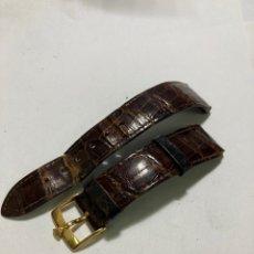Orologi - Rolex: CORREA DE PIEL ROLEX CON HEBILLA DE ORO ORIGINAL AÑOS 60. Lote 254803695