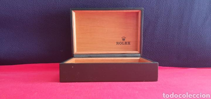 CAJA -ESTUCHE DEL RELOJ ROLEX ORIGINAL PIEL Y MADERA (Relojes - Relojes Actuales - Rolex)