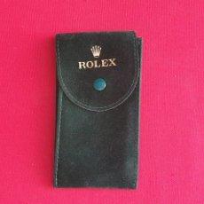 Montres - Rolex: ESTUCHE DE ROLEX CON EL NUMERO DE REFERENCIA DE TELA COLOR VERDE ORIGINAL VER FOTOS. Lote 265176659