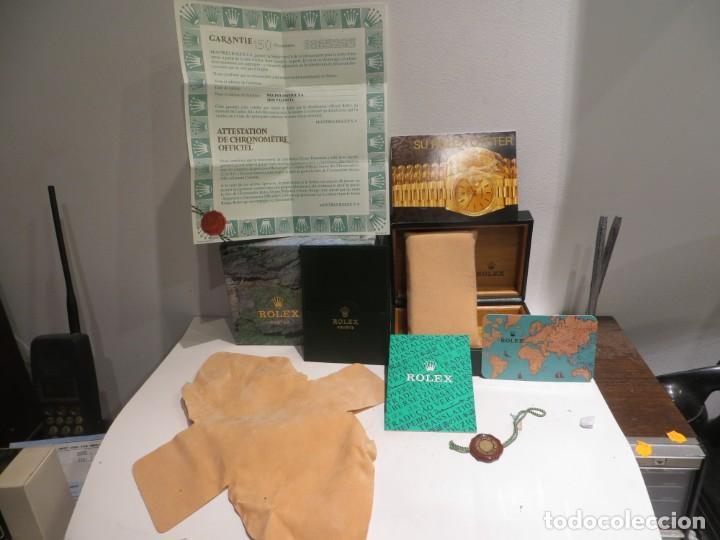 CAJA ROLEX COMPLETA DE TODO GARANTIA SIN SELLAR IMPECABLE ESTADO AÑO 1998 (Relojes - Relojes Actuales - Rolex)