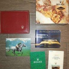 Relojes - Rolex: LOTE DE CAJA Y PAPELES DE ROLEX OYSTER AÑOS 90.. Lote 269478858