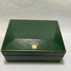 Relojes - Rolex: CAJA DE ROLEX ANTIGUA PIEL Y MADERA 13X10X5 CM. Lote 270877878