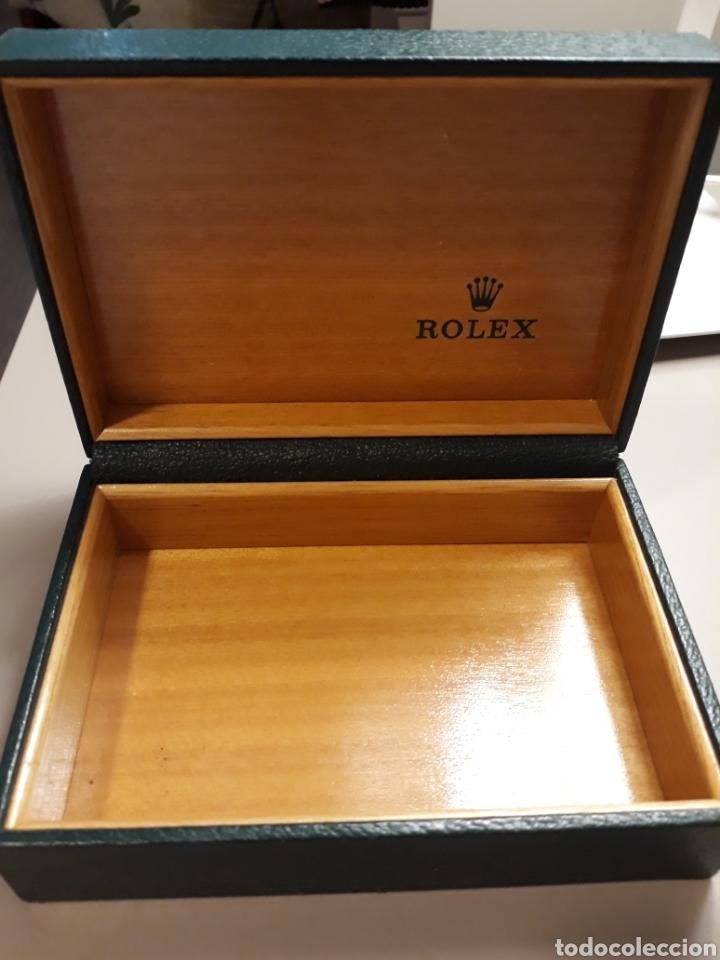 Relojes - Rolex: Caja Rolex en piel y madera. - Foto 3 - 272985148