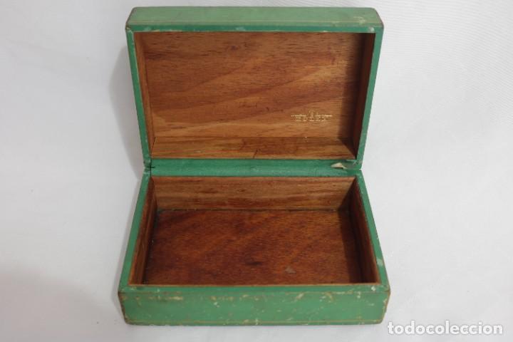 Relojes - Rolex: Estuche vintage caja reloj rolex interior de madera y terciopelo y por fuera de terciopelo verde - Foto 3 - 273354533