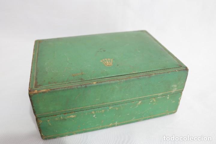 Relojes - Rolex: Estuche vintage caja reloj rolex interior de madera y terciopelo y por fuera de terciopelo verde - Foto 5 - 273354533