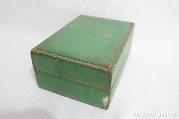 Relojes - Rolex: Estuche vintage caja reloj rolex interior de madera y terciopelo y por fuera de terciopelo verde - Foto 6 - 273354533