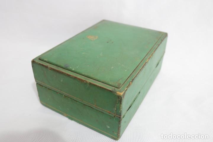 Relojes - Rolex: Estuche vintage caja reloj rolex interior de madera y terciopelo y por fuera de terciopelo verde - Foto 7 - 273354533