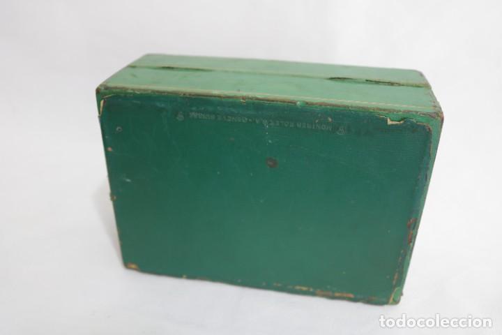 Relojes - Rolex: Estuche vintage caja reloj rolex interior de madera y terciopelo y por fuera de terciopelo verde - Foto 9 - 273354533