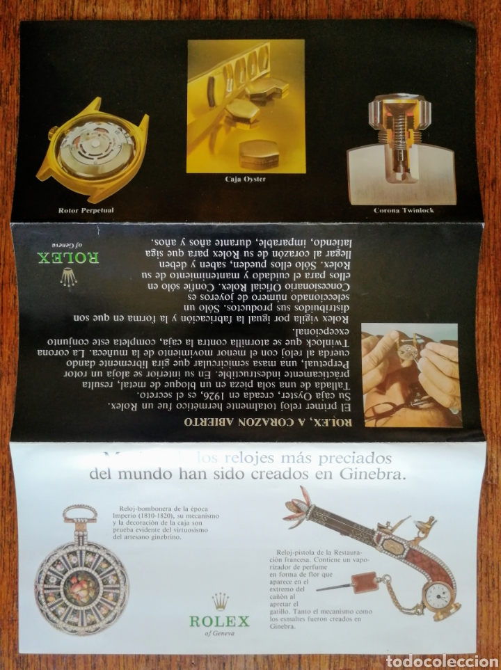 Relojes - Rolex: CATALOGO TRIPTICO. RELOJES ROLEX.. MUY BONITO. EL ENVIO ESTA INCLUIDO. - Foto 2 - 276140703