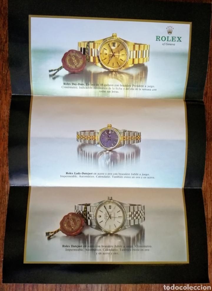 Relojes - Rolex: CATALOGO TRIPTICO. RELOJES ROLEX.. MUY BONITO. EL ENVIO ESTA INCLUIDO. - Foto 3 - 276140703