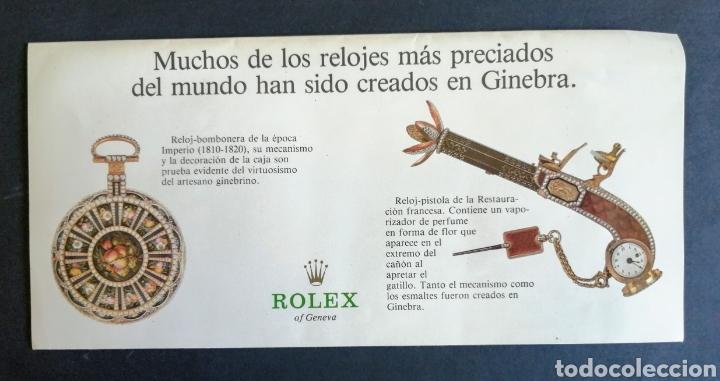 CATALOGO TRIPTICO. RELOJES ROLEX.. MUY BONITO. EL ENVIO ESTA INCLUIDO. (Relojes - Relojes Actuales - Rolex)