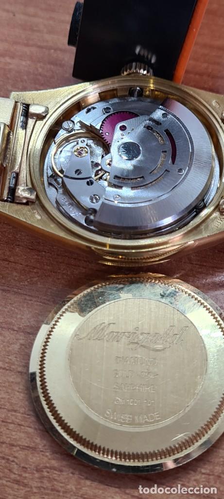 Relojes - Rolex: Reloj caballero ROLEX. DAY- DATE de oro 18K (0750) con correa de oro, esfera champan con brillantes. - Foto 3 - 279379298