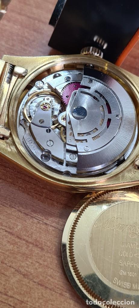 Relojes - Rolex: Reloj caballero ROLEX. DAY- DATE de oro 18K (0750) con correa de oro, esfera champan con brillantes. - Foto 8 - 279379298