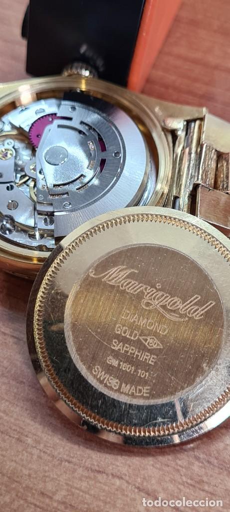 Relojes - Rolex: Reloj caballero ROLEX. DAY- DATE de oro 18K (0750) con correa de oro, esfera champan con brillantes. - Foto 10 - 279379298
