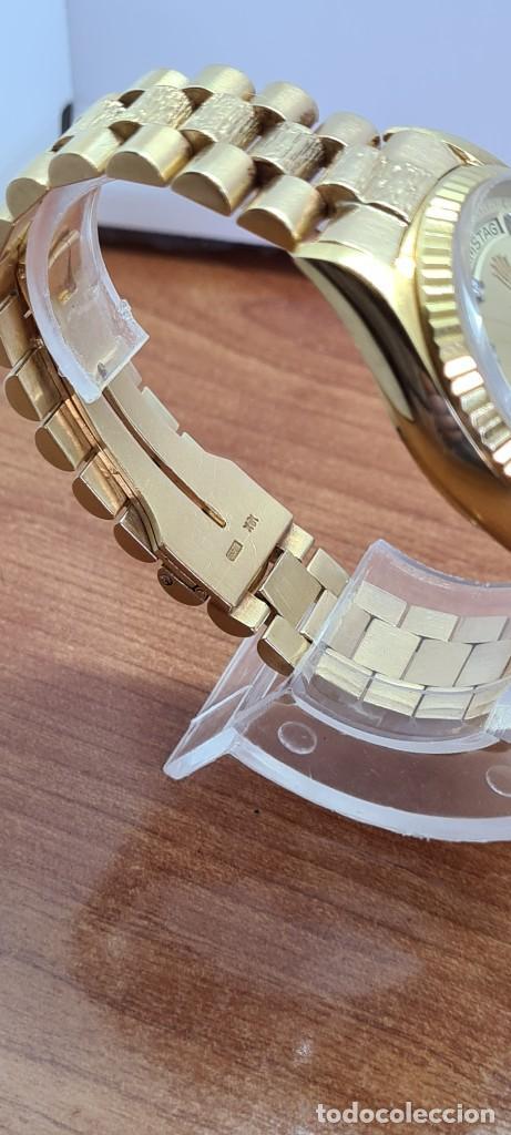 Relojes - Rolex: Reloj caballero ROLEX. DAY- DATE de oro 18K (0750) con correa de oro, esfera champan con brillantes. - Foto 21 - 279379298