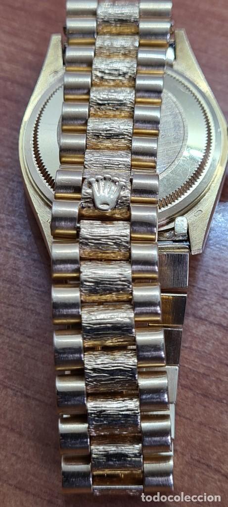 Relojes - Rolex: Reloj caballero ROLEX. DAY- DATE de oro 18K (0750) con correa de oro, esfera champan con brillantes. - Foto 24 - 279379298