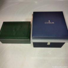 Orologi - Rolex: CAJA DE PIEL Y MADERA ROLEX CON ALGUN DEFECTO Y REGALO ESTUCHE DE RELOJ CORUM. Lote 284134743