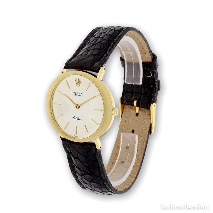 Relojes - Rolex: Rolex Cellini Reloj de Oro de Señora de Ley 18k con Pulsera de Cuero - Foto 3 - 284755693