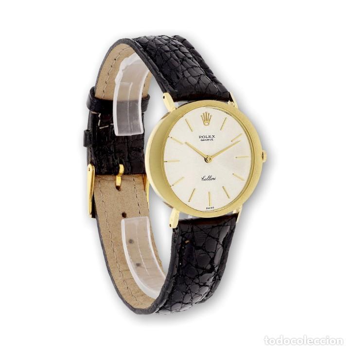 Relojes - Rolex: Rolex Cellini Reloj de Oro de Señora de Ley 18k con Pulsera de Cuero - Foto 4 - 284755693