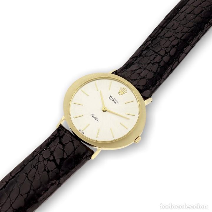 Relojes - Rolex: Rolex Cellini Reloj de Oro de Señora de Ley 18k con Pulsera de Cuero - Foto 5 - 284755693