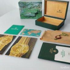 Relojes - Rolex: CAJA VINTAGE ROLEX OYSTER CON CERTIFICADO, DOCUMENTOS, ETIQUETA Y FUNDA 1980S. Lote 292588063