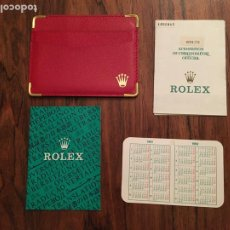 Relojes - Rolex: LOTE RELOJ ROLEX OYSTER CERTIFICADO MAS FUNDA CALENDARIO, GARANTIA 1991, 1992. Lote 293563593