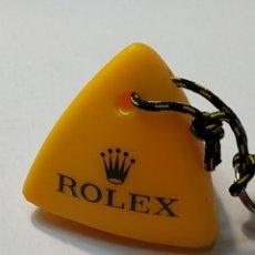 Relojes - Rolex: LLAVERO FLOTADOR EN GOMA AMARILLO ROLEX SERIGRAFÍA EN VERDE. Lote 294056118