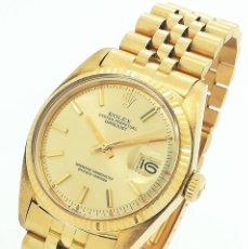 Relojes - Rolex: RELOJ AUTOMÁTICO ROLEX OYSTER PERPETUAL DATEJUST DE ORO AMARILLO 18K - CAL. 1570 REF: 1601 AÑO 1976. Lote 295569238