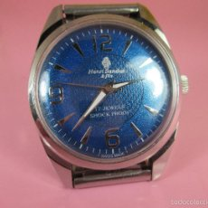 Relojes - Sandox: RELOJ-SUIZO-HENRY SANDOZ ET FILS-37 MM CON CORONA-BUEN ESTADO-FUNCIONANDO-MANUAL-VER FOTOS. Lote 57141371
