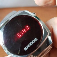 Relojes - Sandox: RELOJ DE CABALLERO (VINTAGE) SANDOZ CON DÍGITOS MUY ANTIGUO FUNCIONANDO PARA SU USO O COLECCIONISTA . Lote 98162311