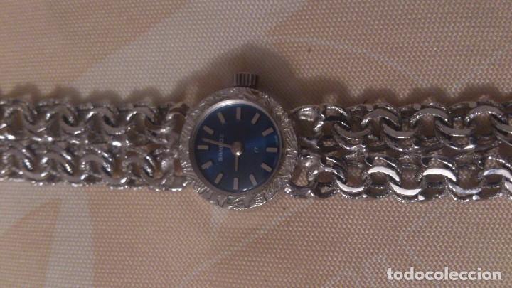 Relojes - Sandox: reloj señora sandoz swiss made,pulsera de metal,esfera azul.base de stainless.358v47 - Foto 3 - 65977678
