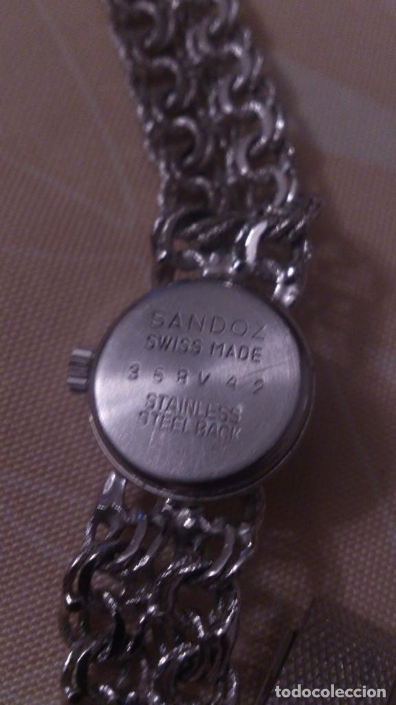 Relojes - Sandox: reloj señora sandoz swiss made,pulsera de metal,esfera azul.base de stainless.358v47 - Foto 5 - 65977678