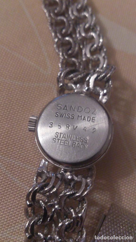 Relojes - Sandox: reloj señora sandoz swiss made,pulsera de metal,esfera azul.base de stainless.358v47 - Foto 6 - 65977678