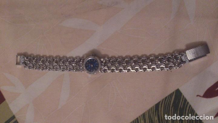 Relojes - Sandox: reloj señora sandoz swiss made,pulsera de metal,esfera azul.base de stainless.358v47 - Foto 8 - 65977678
