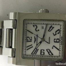 Relojes - Sandox: RELOJ SANDOZ SAMOA EN ACERO COMPLETO CUADRADO MUY ELEGANTE . Lote 97230391