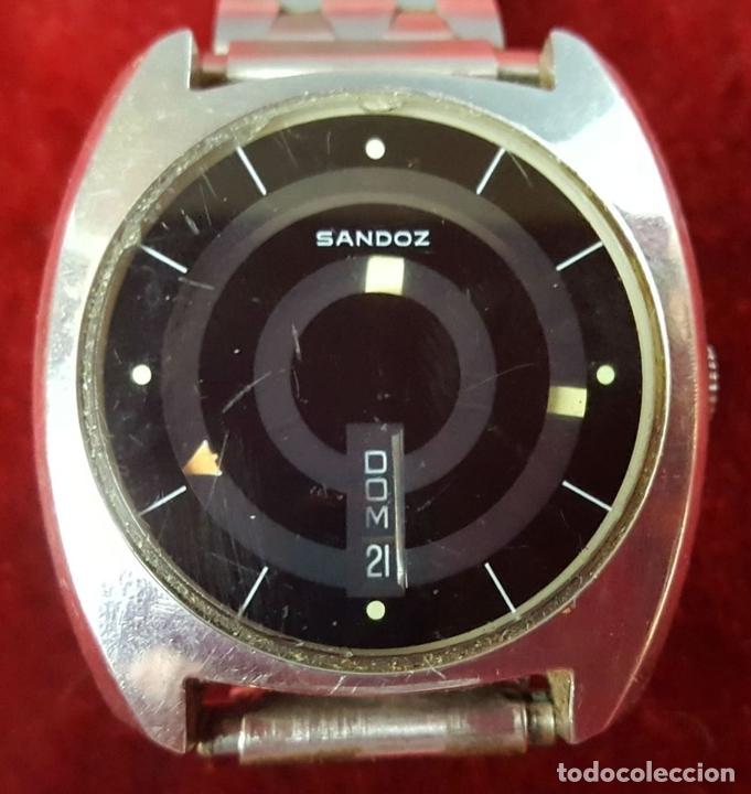 Relojes - Sandox: RELOJ DE PULSERA. SANDOZ. MISTERY DIAL. 25 JEWELS. SUIZA. CIRCA 1970. - Foto 4 - 100145711