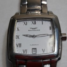 Relojes - Sandox: RELOJ SANDOZ ALBORAN CRISTAL ZAFIRO. Lote 109135970