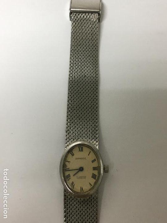 Relojes - Sandox: Reloj sandoz antiguo carga manual en acero completo en funcionamiento de coleccionistas - Foto 2 - 97286139