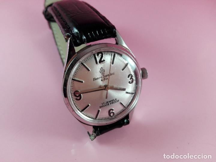 Relojes - Sandox: reloj-henri sandoz & fils-Manual-buen estado-correa piel-color a definir-antiguo-Viene de joyería ma - Foto 5 - 118360835
