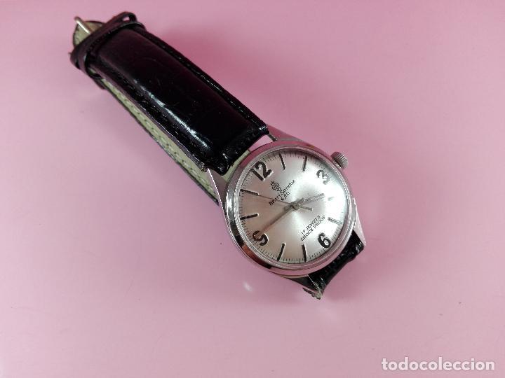 Relojes - Sandox: reloj-henri sandoz & fils-Manual-buen estado-correa piel-color a definir-antiguo-Viene de joyería ma - Foto 8 - 118360835