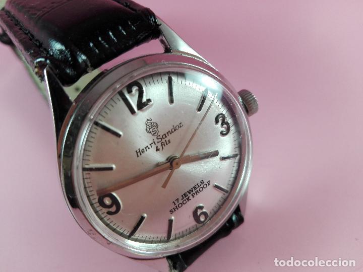 Relojes - Sandox: reloj-henri sandoz & fils-Manual-buen estado-correa piel-color a definir-antiguo-Viene de joyería ma - Foto 9 - 118360835