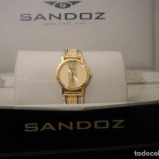 Relojes - Sandox: ELEGANTE RELOJ JOYA SANDOZ SAPHIR CON ARMIS EN ORO DE 18 QUILATES - ESTUCHE ORIGINAL . Lote 118831355