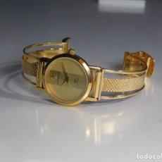 Relógios - Sandoz: SANDOZ SAPHIR CON ARMIS EN ORO DE 18 QUILATES-ELEGANTE RELOJ JOYA - ESTUCHE. Lote 118831355