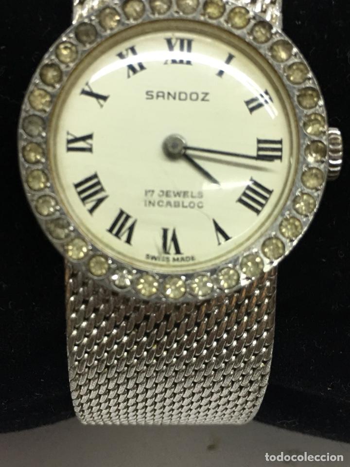 RELOJ SANDOZ CARGA MANUAL VINTAGE CON CORONA DE PIEDRAS ENGASTADAS PARA COLECCIONISTAS (Relojes - Relojes Actuales - Sandoz)