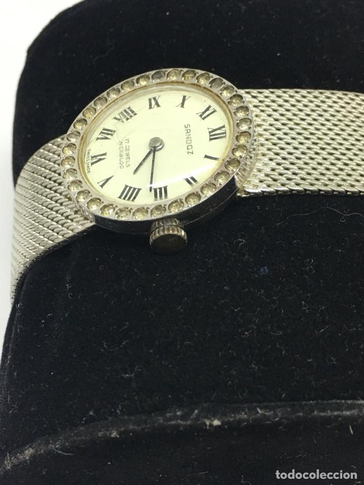 Relojes - Sandox: Reloj Sandoz carga manual vintage con Corona de piedras engastadas para coleccionistas - Foto 2 - 129462460