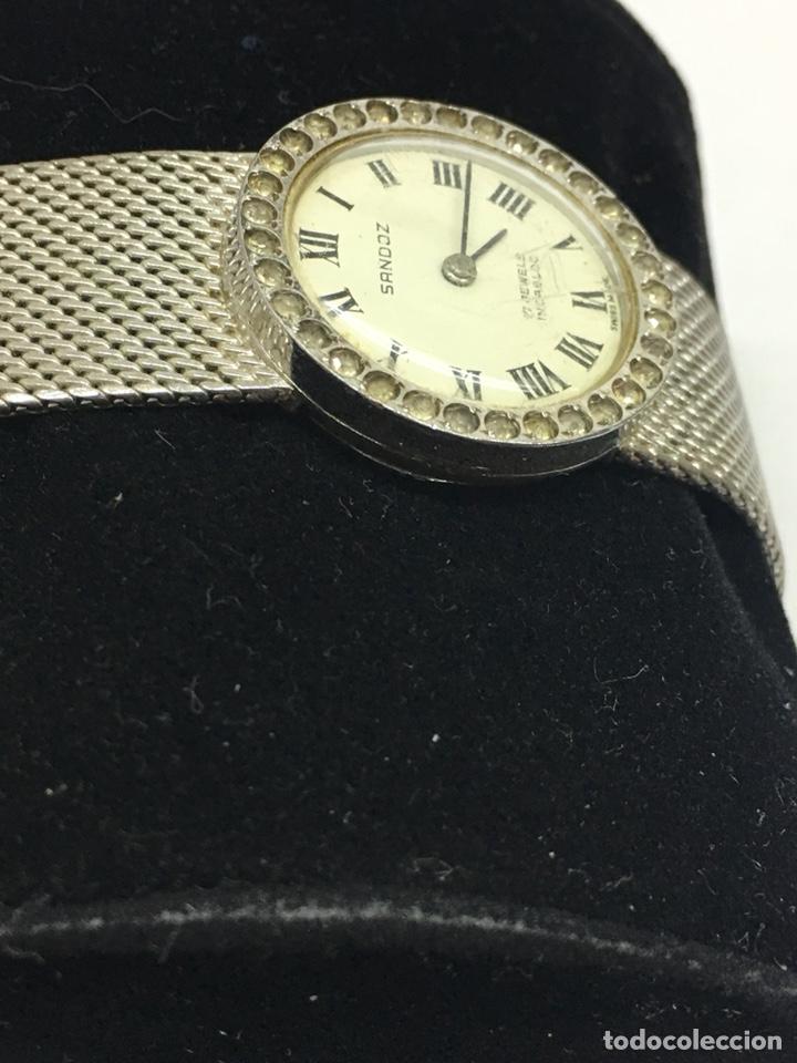 Relojes - Sandox: Reloj Sandoz carga manual vintage con Corona de piedras engastadas para coleccionistas - Foto 3 - 129462460