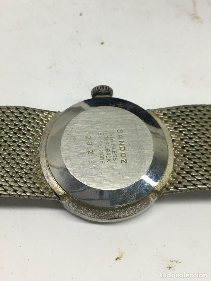 Relojes - Sandox: Reloj Sandoz carga manual vintage con Corona de piedras engastadas para coleccionistas - Foto 5 - 129462460