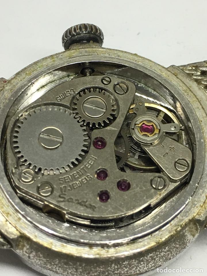 Relojes - Sandox: Reloj Sandoz carga manual vintage con Corona de piedras engastadas para coleccionistas - Foto 6 - 129462460