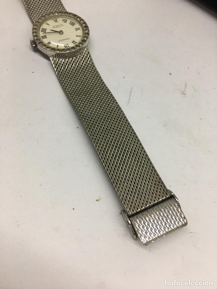 Relojes - Sandox: Reloj Sandoz carga manual vintage con Corona de piedras engastadas para coleccionistas - Foto 7 - 129462460