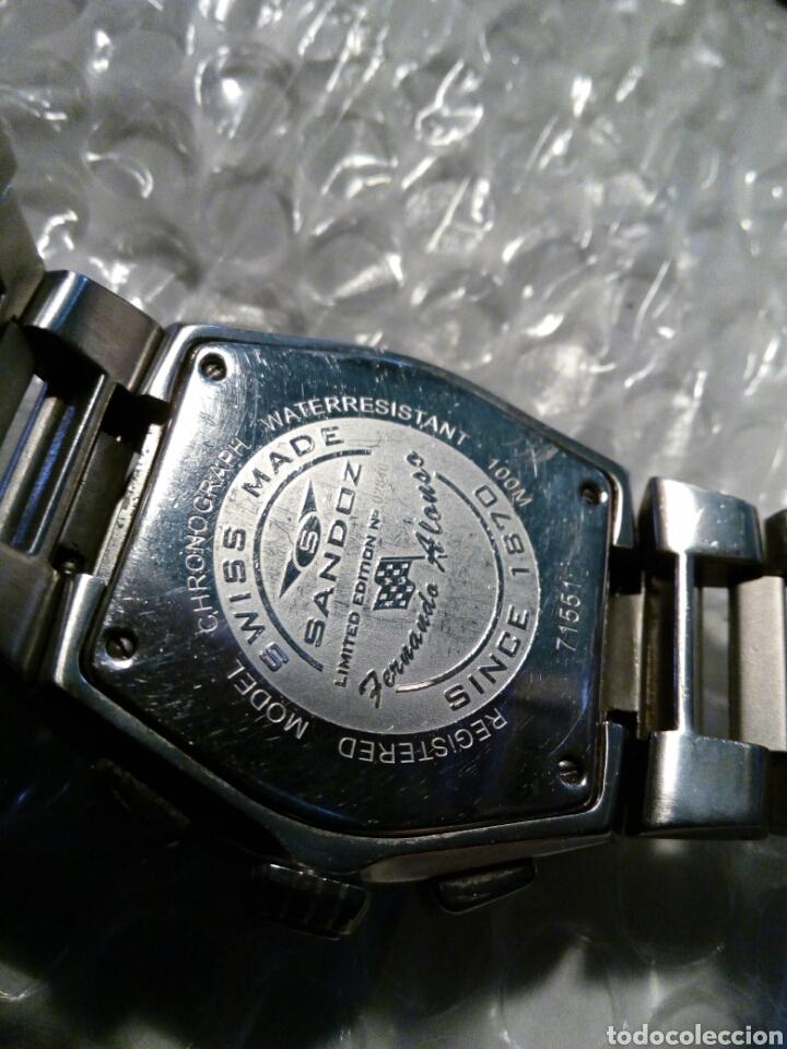 Relojes - Sandox: Reloj Sandoz ediccion Fernando Alonso, swiss made, crono y datario wr 100 m color de Asturies - Foto 6 - 134054183
